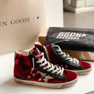 GGDB Francy Sneakers in Velvet & snake print